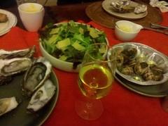クリスマス・ディナー:牡蠣、エスカルゴ