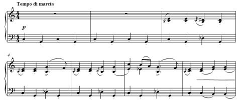 プロコフィエフ「子供のための音楽 op. 65」より「マーチ」