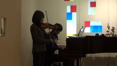 Kさん(ヴァイオリン)とかずひこ(ピアノ)