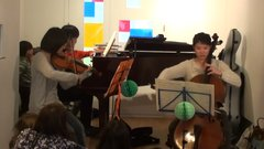 Kさん(ヴァイオリン)とMさん(チェロ)とかずひこ(ピアノ)